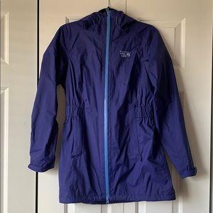 Women's Mountain Hardwear Blue Rain Jacket